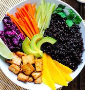 japanese rice bowl black rice