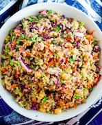 veggie slaw quinoa salad