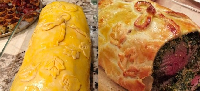 boeuf en croute before and after