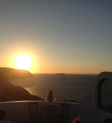 santorini sunset fira