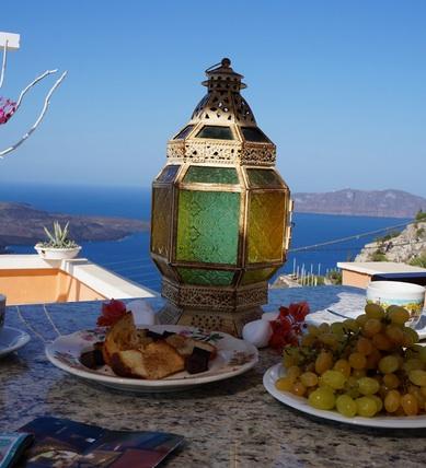 santorini terrace breakfast