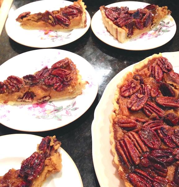 sweet potato pecan tart served1