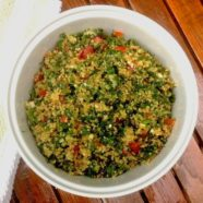 Lemon-infused quinoa tabouli with fresh parsley & mint